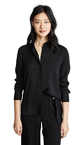 41q1mGnIIZL A staple throughout the year, this slim-fit blouse is cut from stretch-silk crepe de chine. Fits true to size.