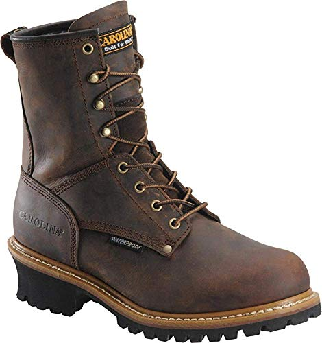 Men's Carolina 8' Steel Toe Loggers Boot