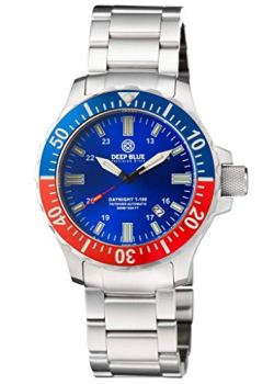 DAYNIGHT TRITDIVER T-100 Automatic Blue/RED Bezel- Blue DIAL
