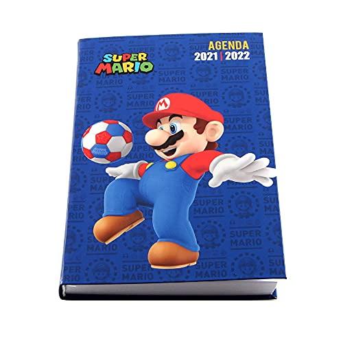 Agenda escolar 2021-2022 – 17 x 12 cm multilingüe – Super Mario