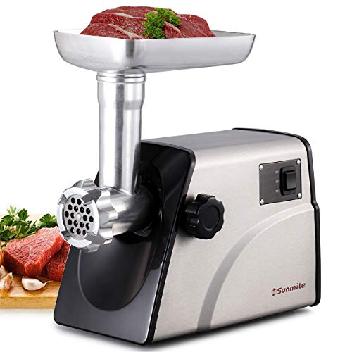 Sunmile SM-G33 Electric Meat Grinder - 1HP 800W Max Power -...