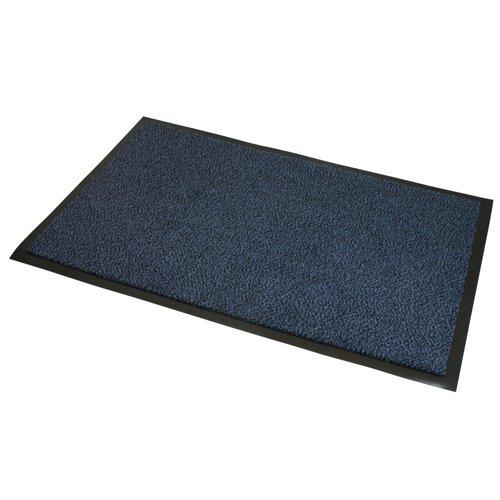 JVL Heavy Duty tappetini Antiscivolo barriera Porta–80x 120cm, Blu/Nero