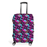 Flamingo - Funda protectora para maleta, lavable, antiarañazos, diseño de flamencos, White (Blanco) - Muerlinanajj768