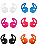 EarPod Cover and Hook Attachment for iPhone 7/6 / 6S / 6 Plus/ 5S/ 5C/ 5 Earphones Headphones Earbuds (7 Pair Black, White, Red, Orange, Clear, Blue, Hot Pink)