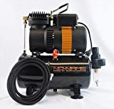 Quiet Compressor for Airbrush with air Tank Model Tooty (Piston Type). NO-Name Brand by SprayGunner. with Bonus!