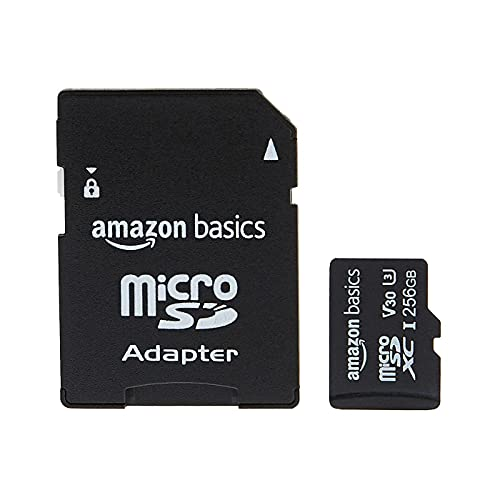 Amazon Basics - Scheda di memoria microSDXC, 256...