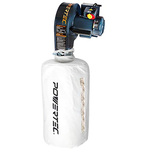 POWERTEC DC5370 Wall Dust Collector with 2.5 Micron Filter Bag | 537...
