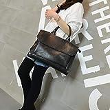 JPDP Nuevos Bolsos de Mujer maletín de Mujer Bolso de computadora Bolso de Hombro de Cuero de Caballo Loco Femenino Bolsos de Mensajero maletín de Ordenador portátil de 14 Pulgadas Negro
