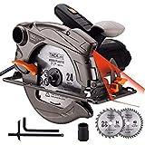 TACKLIFE 1500W 4700RPM Scie Circulaire, 2 Lames Ø185mm (40T&24T) et...