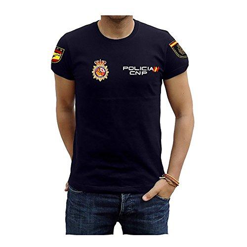 Piel Cabrera Camiseta Policía UPR Bronce (XL, Azul)