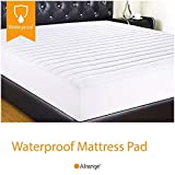 Allrange Essential Clean&Safe Quilted Fitted Waterproof Mattress Pad, Stretch-up-to 16', Moisture Management, Snug Fit, Mattress Protector, CK