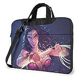 15.6″Durable Hombro Mensajero Bolsa maletín PC Dian-a Princ-e Moda Impermeable Ordenador Portátil/portátil/Tablets