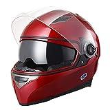 AHR DOT Motorcycle Full Face Helmet Dual Visors Sun Shield Lightweight ABS Street Bike Motorbike Touring