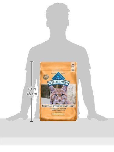 Blue Buffalo Wilderness High Protein, Natural Adult Weight Control Dry Cat Food, Chicken 11-lb 6