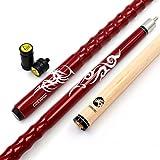 CUESOUL bâton de Queue de Billard en érable personnalisé de 58 cm (21 oz), Conseils de 13 mm, très Belle Prise avec protège-Joints
