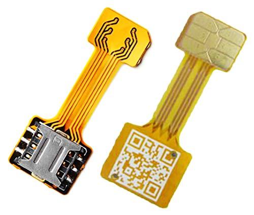 TECNOIOT Hybrid Dual SIM Card Adapter Micro SD Nano SIM Extension Adapter for Android |Cavo di Estensione Adattatore da Scheda SIM Nano a Nano SIM SIM per Samsung Huawei Xiaomi HTC