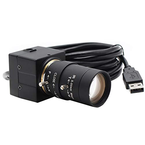 PRDECE Webcam Full HD 1080P Videocamera 8MP 3264X2448 USB Webcam Videocamera 5-50mm Manuale Varifocal CS Camera HD USB Telecamera di sorveglianza Industriale USB