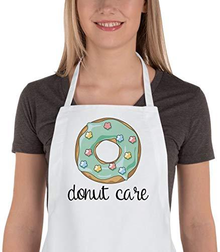 H421ld - Delantal divertido para cocina, diseño de donuts, regalo para amante de los donuts, delantal para mujer, delantal para hombre, regalo de menores de 20 años