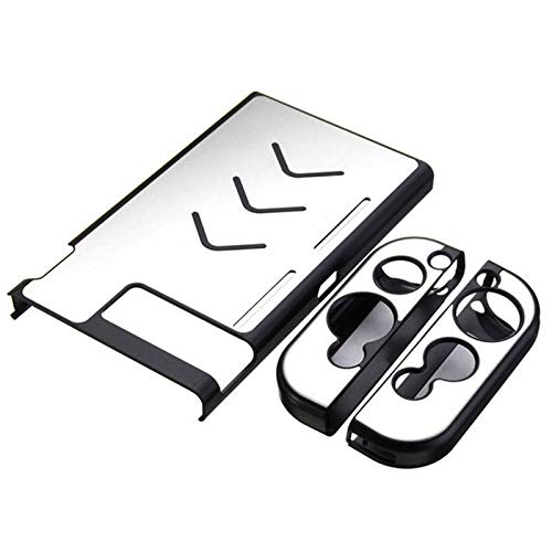 OSTENT Aluminium Hartschalenkoffer Hülle Shell für Nintendo Switch Konsole Farbe Silber