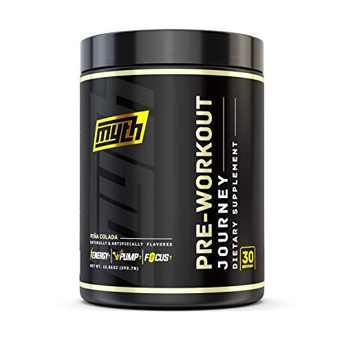 Myth Journey Pre Workout Powder - Energy Supplement Pre Workout for Men & Women - Caffeine, Alpha GPC, L-Citrulline, Beta-Alanine - Piña Colada, 30 Servings (2020 Flavor)