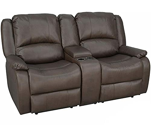 RecPro Charles Collection | 67' Double Recliner RV Sofa & Console...