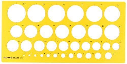 Rumold Kreisschablone/2810 270x130x2 mm orange transparent Kunststoff