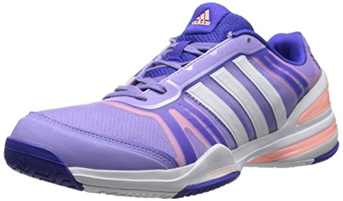 adidas Performance Women's CC Rally Comp W Tennis Shoe, Light Flash Purple/White/Night Flash, 8 M US