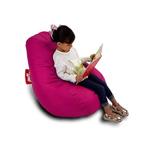 Sillón cómodo y moldeable Infantil - Puff Pera Kids Acabado Tipo Nylon Fiusha, Relleno de Perla de Unicel