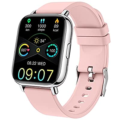 Multifunction Smart Watch: This smartwatch includes more practical functions, Fitness Tracker (Pedometer, Calories, Distance), Blood Pressure Monitor, Heart Rate Monitor, Sleep Monitor, 24 Sports Modes, IP68 Waterproof, Blood Oxygen Monitor, Call Not...
