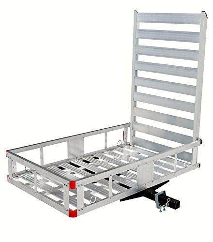 MAXXHAUL 80779 Aluminum Hitch Mount Cargo Carrier with 47' Long Ramp, 1 Pack