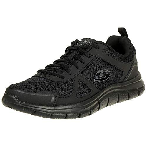 Skechers Track-scloric 52631-bbk, Zapatillas Hombre, Negro (Black 52631/Bbk), 44 EU