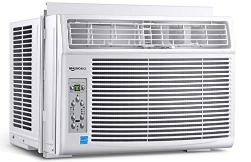 Amazon Basics Window-Mounted Air Conditioner with Remote - Cools 250 Square Feet, 6000 BTU, Energy Star, Energy Star