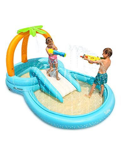 Sable Inflatable Play Center Wading Pool with Slide
