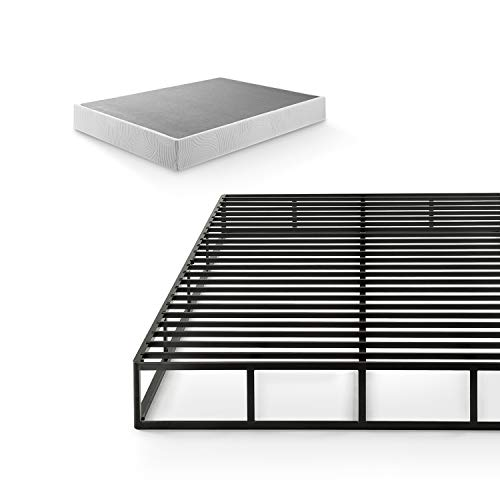 ZINUS Quick Lock Metal Box Spring / 9 Inch Mattress Foundation / Strong Metal Structure / Easy Assembly, Queen