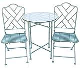 Sunset Vista Designs B7862-PG Bamboo Trellis 3-Piece Bistro Set, Patina