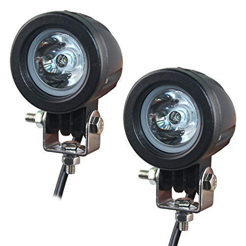 Motorrad Zusatzscheinwerfer LED, EKLAMP 2inch 10W Motorrad Nebelscheinwerfer LED, Scheinwerfer Auto, Arbeitsscheinwerfer Spotlight,6500K IP67 Offroad Zusatzscheinwerfer, Bar Car, ATV(2Pcs)