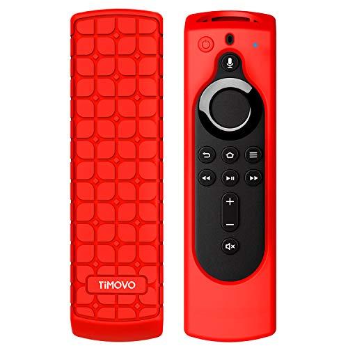 TiMOVO Custodia Protettiva per TV Telecomando for Fire TV Stick 4K, Cover Controllo Remoto in Silicone Ultra Sottile Antiurto Antipolvere - Red
