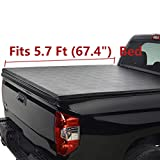 Deebior 5.7ft(67.4') Lock & Roll Up Soft Tonneau Cover Top Mount Assembly w/Rails+Mounting Hardware...