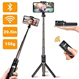 Viixm Perche Selfie Bluetooth Selfie Stick Trépied Télécommande Amovible 3-en-1 Rotation 360° Alliage d'Aluminium Support Plus Stable Bâton Selfie Télescopique pour iPhone Samsung Huawei MI Sony etc