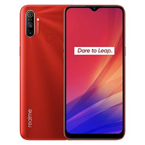 "Realme C3 - Smartphone de 6.5"" LCD multi-touch, 3 GB RAM + 64 GB ROM, Procesador Helio G70 OctaCore, Batería de 5000mAh, Cámara Dual AI 12MP, Dual Sim, Color Blazing Red"