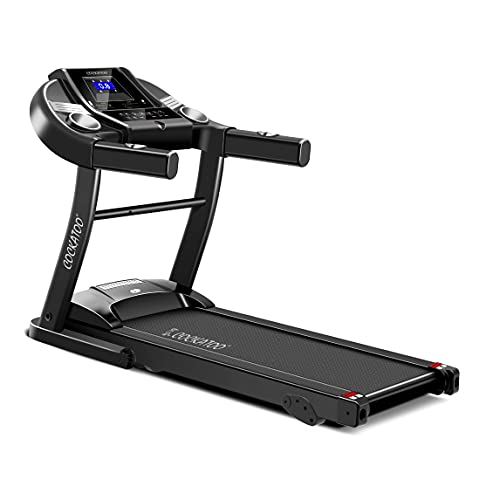 Cockatoo CTM-05 1.5 HP - 2HP Peak DC Motorized Treadmill for Home with 3 Level Manual Incline, Max Speed 14 Km/Hr, Max User Weight 90 Kg(Free Installation Assistance), Multicolour