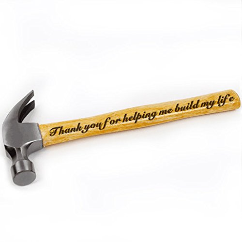 Thank You for Helping Me Build My Life Engraved Wood Handle Steel Hammer, Best Gift for Dad, Birthday Gift, Father's Day Gift, Custom Gift,Anniversary Gift