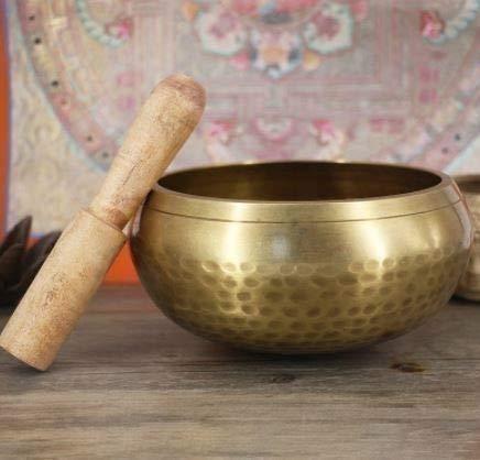 送無 希少 ハンドメイド 直径約10.5cm シンキングボール(シンキングボウル、チベタンボウル) 瞑想する音 神...
