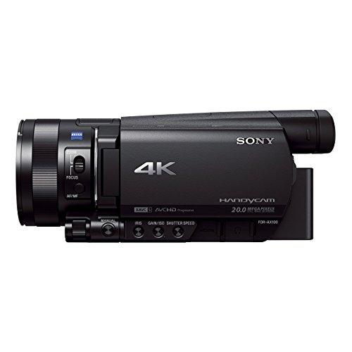 Sony FDR-AX100 Caméscope 4K 20.0 Mpix Capteur CMOS Exmor R Rétroéclairé de Type 1.0