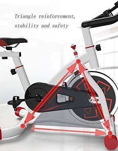 YFFSS Exercise Bikes, Indoor Cycling Bike with Home Ultra-Quiet Pedal Sports Fitness Bicycle Exercise Equipment,Professional Adjustable Indoor Lose Weight Spinning Fitness Bike (Color : White) 4