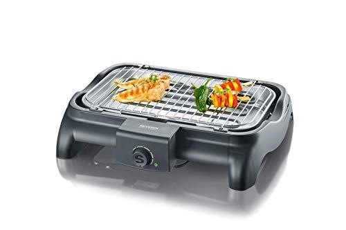 Severin PG 1511 Barbecue-Grill elettrico, 2300W, Nero