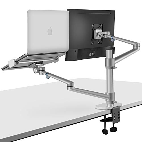 viozon Monitor and Laptop Mount, 2-in-1 Adjustable Dual Arm Desk...