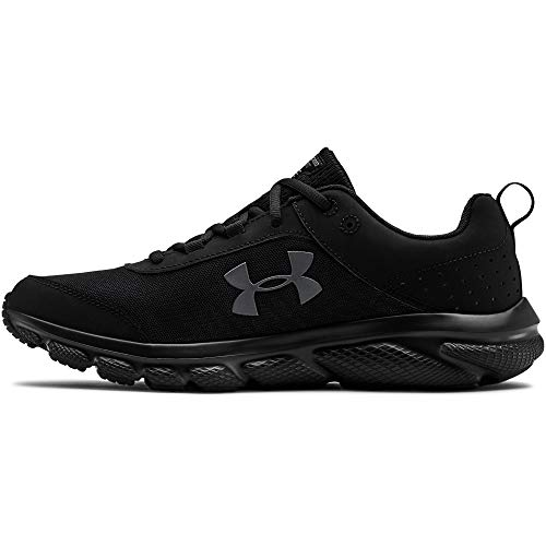Under Armour mens Charged Assert 8 Running Shoe, Black/Black, 9.5...
