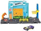 Hot Wheels - Garage dell'Alligatore Pista per Macchinine a Tema Città, Connettibile con Altre Piste, Gioco per Bambini 3+ Anni, FNB06