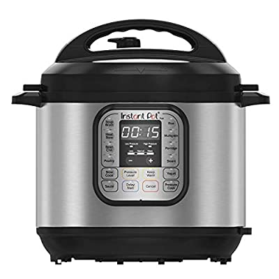 7-IN-1 APPLIANCES: electric pressure cooker, rice cooker, slow cooker, yogurt maker, steamer, sauté pan and food warmer QUICK ONE-TOUCH COOKING with 13 Smart Touch customizable programs for pressure cooking ribs, soups, beans, rice, poultry, yogurt, ...